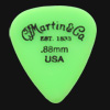 C F Martin Number 5 Delrin Fluorescent Green 0.88mm Guitar Plectrums