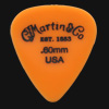 C F Martin Number 5 Delrin Fluorescent Orange 0.60mm Guitar Plectrums