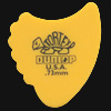 Dunlop Tortex Fins 0.73mm Yellow Guitar Plectrums