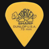 Dunlop Tortex Sharp 0.73mm Yellow Guitar Plectrums