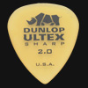 Dunlop Ultex Sharp 2.0mm Guitar Plectrums