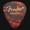 Fender Celluloid 351 Tortoiseshell Heavy Guitar Plectrums