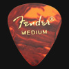 Fender Celluloid 351 Tortoiseshell Medium Guitar Plectrums