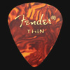 Fender Celluloid 351 Tortoiseshell Thin Guitar Plectrums