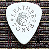 Leather Tones White Guitar Plectrums