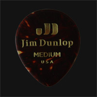 Dunlop Celluloid Teardrop Shell Medium Guitar Plectrums