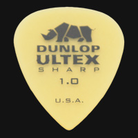 Dunlop Ultex Sharp 1.0mm Guitar Plectrums