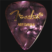 Fender Celluloid 351 Purple Moto Medium Guitar Plectrums